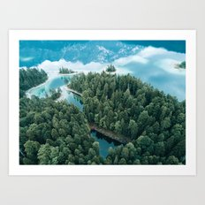 Mountain in a Lake - Landscape Photography Art Print