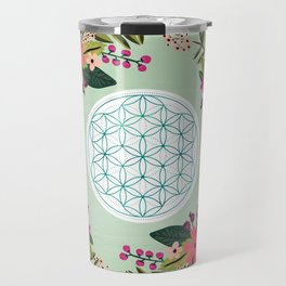 Sacred Geometry 2, Flower of Life Travel Mug
