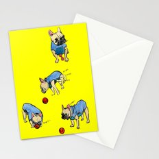 French bulldog playing with a basketball Stationery Cards