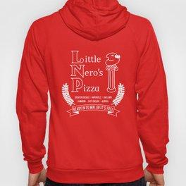 Little Nero's Pizza (white) Hoody