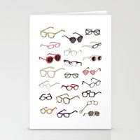 glasses Stationery Cards featuring glasses by Janaína Esmeraldo