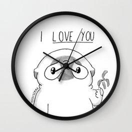 PUG Mochi - I love you Wall Clock