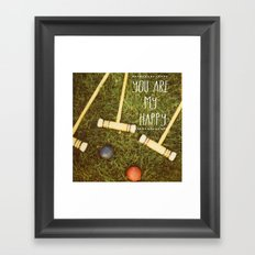 You Are My Happy Framed Art Print