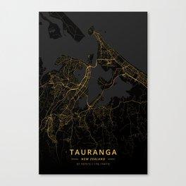 Tauranga, New Zealand - Gold Canvas Print