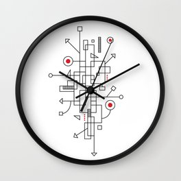 Doodle-1 of 3 Wall Clock