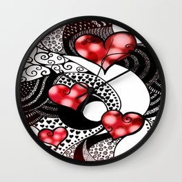 Tangled in Love Wall Clock