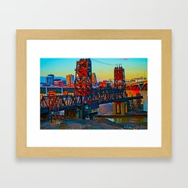 CLE Sunset Framed Art Print