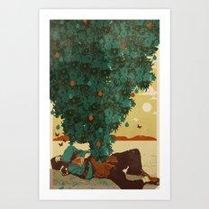 DESERT GREENS Art Print