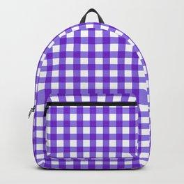 Gingham Print - Purple Backpack