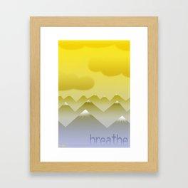 Balloon: Breathe Framed Art Print