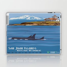 Vintage poster - San Juan Islands Laptop & iPad Skin