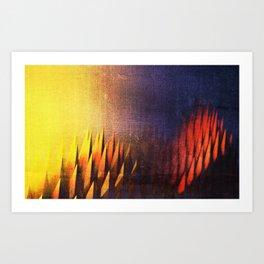 Digital Outcropping Art Print