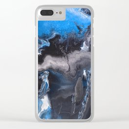 Blue Lightning Clear iPhone Case