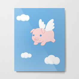 Flying Pig Metal Print