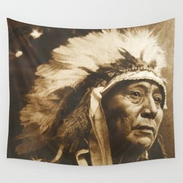 Chief Running Antelope - Native American Sioux Leader Wall Tapestry