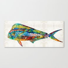 Colorful Dolphin Fish by Sharon Cummings Canvas Print