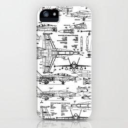 F-18 Blueprints iPhone Case