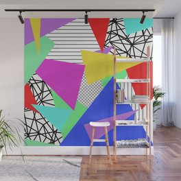 Bits And Pieces - Retro, random, abstract pattern Wall Mural