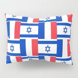 Mix of flag: france and israel Pillow Sham
