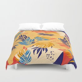Primary Colors Leaves Duvet Cover