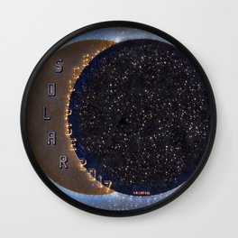 Solar Eclipse Space Wall Clock