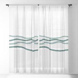 sea is blue Sheer Curtain