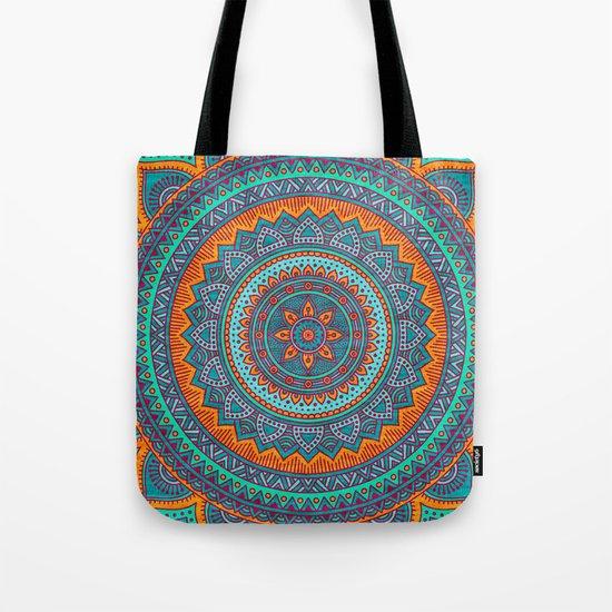 Hippie mandala 75 Tote Bag