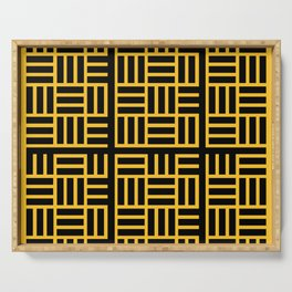 The Black lines pattern Serving Tray
