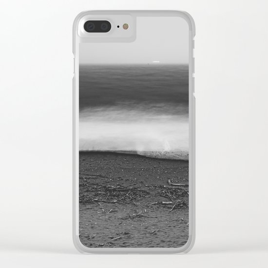 Ocean - 10 Black and White Clear iPhone Case