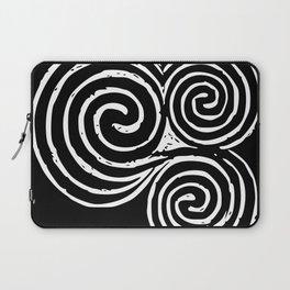 Triskelion, Newgrange - White and Black background Laptop Sleeve