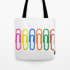Colorful Paperclips Tote Bag