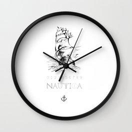 Nautica [Typography, Illustration] Wall Clock