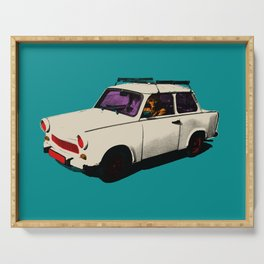 Trabant white pop Serving Tray