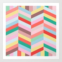 Candy Stripe Art Print