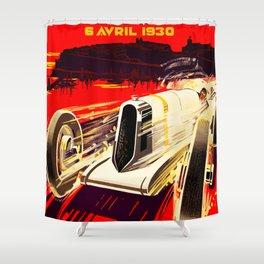 Monaco Grand Prix 1930 Shower Curtain