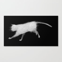 Wired cat Canvas Print