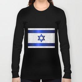 Israel Star Of David Flag Long Sleeve T-shirt