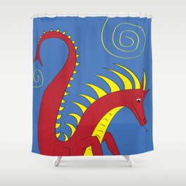 Dragon Shower Curtain