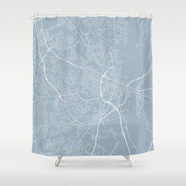 Fayetteville Map, USA - Slate Shower Curtain
