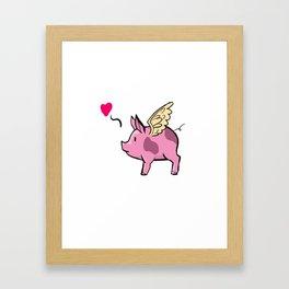 Flying Pig Framed Art Print