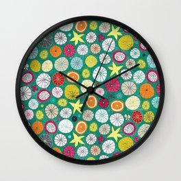 umbrellas jade Wall Clock