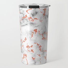 Marble Texture with Copper Splatter 041 Travel Mug