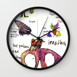 All Monsters LARGE Wall Clock