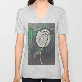 Golden Rose Acrylic Icey Green Mint Chocolate Chip Unisex V-Neck