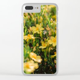 Tiny Yellow Flowers Clear iPhone Case