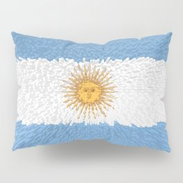 Extruded Flag of Argentina Pillow Sham