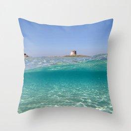 Sardinia, underwater Throw Pillow