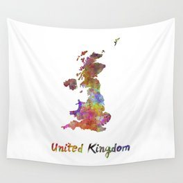 United Kingdom in watercolor Wall Tapestry