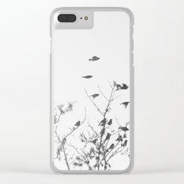 Flock of birds in flight Clear iPhone Case