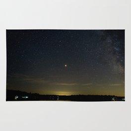 Mars Milky Way and Stars on Lake Rug